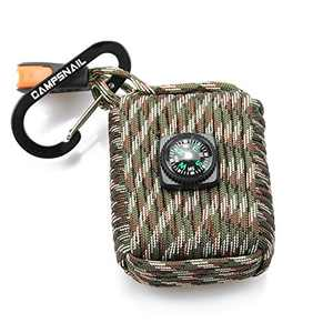 CAMPSNAIL for Men Dad Emergency Survival Kit Grenade - 25 Accessories First Aid Kit Survival Wrapped in 550 lb Paracord Survival Grenade Cord for Emergencies