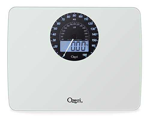 Ozeri Rev Digital Weight Scale with Electro-Mechanical Weight Dial and 50 Gram Sensor Technology (0.1 lbs / 0.05 kg)