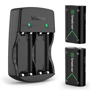 Smatree Rechargeable Battery Compatible with Xbox Series X|S/Xbox One/Xbox One S/Xbox One X/Xbox One Elite Wireless Controller, 2 Pack Batteries with Charger