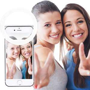 AUTOPkio Selfie Ring Light, 36 LED Light Ring Clip On Supplementary Selfie Lighting Night Darkness Enhancing for Photography, Webcast, Smart Phones, White