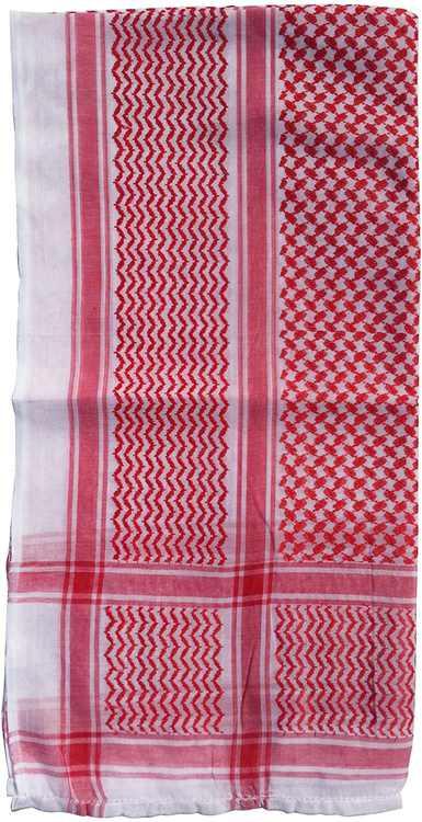 Red & White Keffiyeh Men's Muslim Arafat Scarf Shawl Turban Sorban 120x120cm