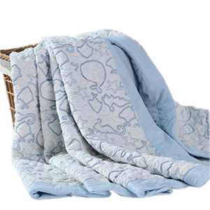 Kingnex Muslin Blanket for Baby, Soft Breathable Bamboo Cotton Jacquard Bed Throw Blankets for Toddler 39x47