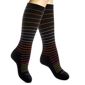 SocksLane Cotton Compression Socks for Women & Men. 15-20 mmHg Support Knee-High