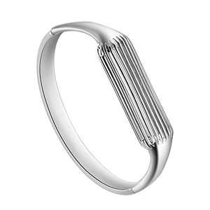 "Aresh Compatible with Fitbit Flex 2 Bangle, New Fashion Accessory Bracelet Band Compatible with Fitbit Flex 2, For Wrist Size: 6.3""-6.5"" (Silver-Small)"