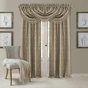 "Elrene Home Fashions 20860ELR Antonia Blackout Rod Pocket/Back Tab Window Curtain Panel,Taupe,52"" X 84"