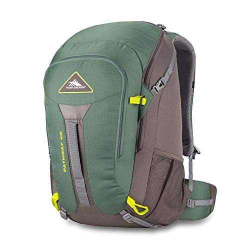 High Sierra Pathway Internal Frame Hiking Backpack, Pine/Slate/Chartreuse, 40L