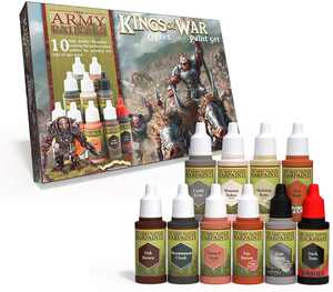 The Army Painter | Warpaints Kings of War Ogres Paint Set | 10 Acrylic Paints for Painting Fantasy Ogre Infantry and Ogre Warmachines | Wargames Miniature Model Painting