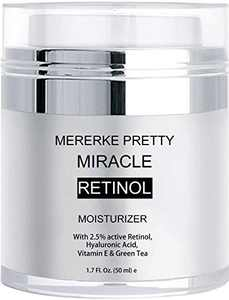Mererke_Pretty Anti Aging Retinol Moisturizer Cream for Face,Wrinkle Cream for Women and Men, with Active Retinol 2.5%,Hyaluronic Acid, Vitamin E and Green Tea 1.7 fl oz.