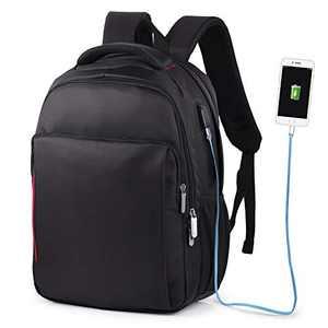 VBG VBIGER Laptop Backpack 14 Inch Waterproof Black Computer Business Backpack College Student Backpack with Charging Port