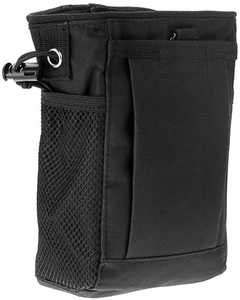 WINOMO Molle Magazine Dump Pouch Holster Bag Adjustable for Outdoor Camping (Black)