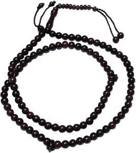 8mm-Bead Dense Tamarind Wood Muslim Rosary Tasbih with 99-beads & Counters