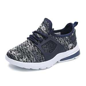 Hawkwell Youth Breathable Camouflage Lace-up Running Shoes(Toddler/Little Kid/Big Kid),Navy Mesh,10 M US Toddler
