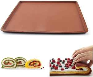 SFGHOUSE Large Size Silicone Swiss Roll Roulade Baking Mat Pad Non Stick Cake Baking Sheet Tray (Large)