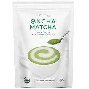 Encha Latte Grade First Harvest Organic Matcha Green Tea Powder, From Uji, Japan (2.12 Ounce)