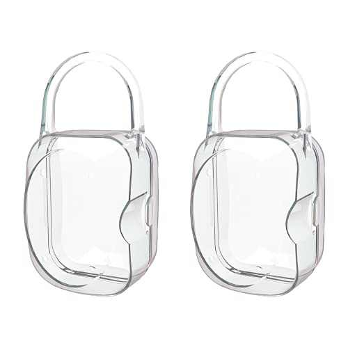 LANEYLI Pacifier Box Pacifier Shield Case Pacifier Clip Holder - Pack of 2