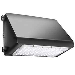 Moobibear B1-Q0KC-S9FK Super Bight LED Wall Pack, UL DLC Listed, 60W 7200lm Area, 300W HPS/HID Replacement, 5000K Daylight White, 50,000hours Lifespan, Commercial and Industrial IP65 Outdoor Lighting