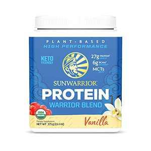 Sunwarrior Warrior Blend - Organic Vegan Plant Protein Powder with BCAAs and Pea Protein - Dairy Free, Gluten Free, Soy Free, Non- GMO, Plant Based Protein Powder, Sugar Free and Keto Friendly