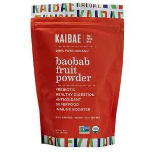 KAIBAE Organic Baobab Fruit Powder | Premium Microbiome Prebiotic Superfood | Non-GMO, Gluten Free and Vegan (8 Ounce)