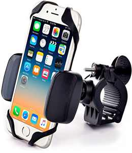 Metal Bike & Motorcycle Phone Mount - for Any Smartphone (iPhone 12 Pro, Xr, SE, Max, S20). Unbreakable Handlebar Cell Phone Holder for Bike & Bicycle