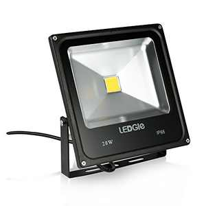 LEDGLE 20W LED Flood Light, IP66 Waterproof, 1600lm, 220W Halogen Bulb Equivalent Outdoor Super Bright Security Lights, 6000 Daylight White, Floodlight Landscape Wall Lights