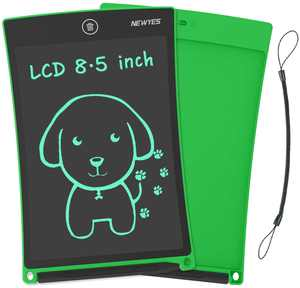 NEWYES LCD Writing Tablet,8.5inch Drawing Tablet Erasable Portable Doodle Mini Board Kid Toys Birthday Gift Learning Tool for Boys Girls(Green)