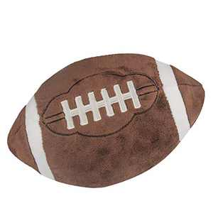 Catchstar Football Pillow Fluffy Plush Football Pillows Soft Stuffed Football Plush Pillow Durable Sports Football Shaped Pillows Toy Gift for Kids Boy Child Baby Room 10 Inches