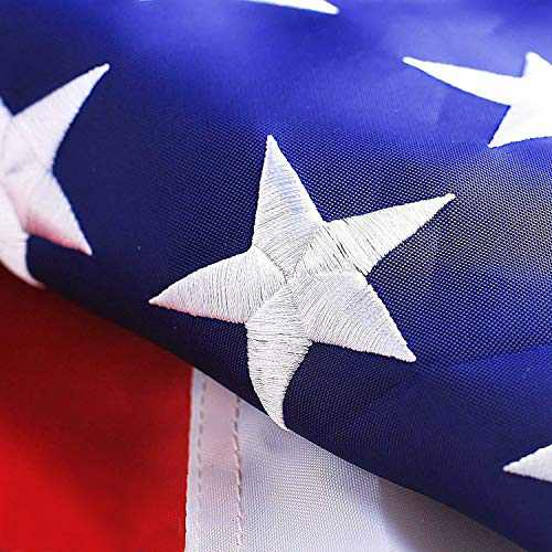 G128 - American USA US Flag 2.5x4 ft Deluxe Embroidered Stars Sewn Stripes Brass Grommets Durable Indoor Outdoor Use