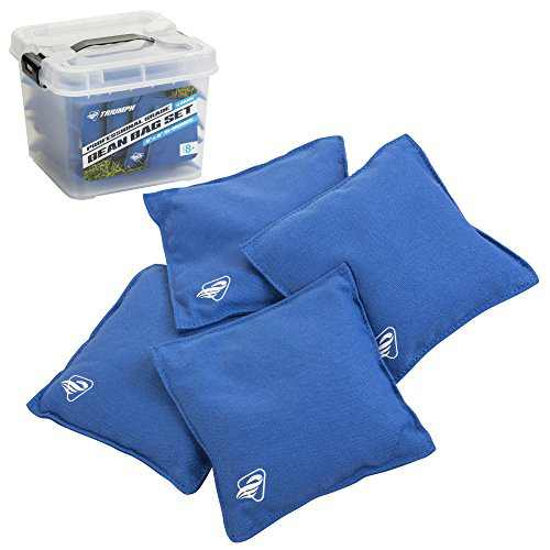 "Triumph Sports Blue Canvas Cornhole Bags – 4 Bags Included, Size 6"" x 6"" 16 oz (12-0055BL-2W)"