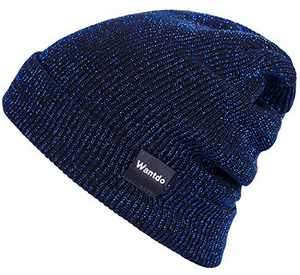 Wantdo Warm Slouchy Cable Knit Beanie Royal
