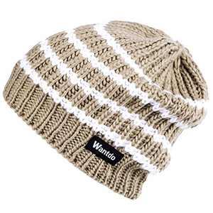 Wantdo Unisex Men's Women's Winter Knitt Warm Thick Outdoor Beanie Hat Khaki 05
