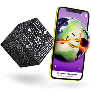 MERGE Cube - Hold Anything - Science and STEM Educational Tool - Hands-on Digital Teaching Aids - Science Simulations and STEM Projects - Home School, Remote and in Classroom Learning - iOS & Android