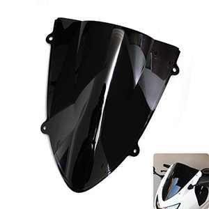 PSLER Windshield WindScreen Double Bubble Compatible with Kawasaki Ninja 250 250R EX250 2008-2012 2008 2009 2010 2011 2012 (Black)