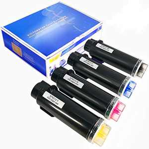 VICTORSTAR 4 Colors Compatible Toner Cartridges 6510 6515 Extra High Yield 5500 Pages BK, 4300 Pages C M Y for Xerox Printers Phaser 6510 6510n 6510dn 6510dni WorkCentre 6515 6515n 6515dn 6515dni