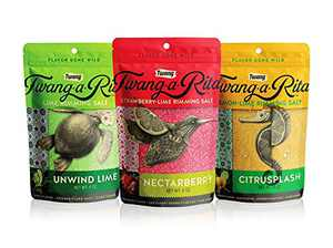 Twang-A-Rita Cocktail Rimming Salt Blend, Lime and Fruit Variety, 4 Ounce Pouch (Set of 3) 1 Each: Strawberry-Lime, Lemon-Lime, Lime