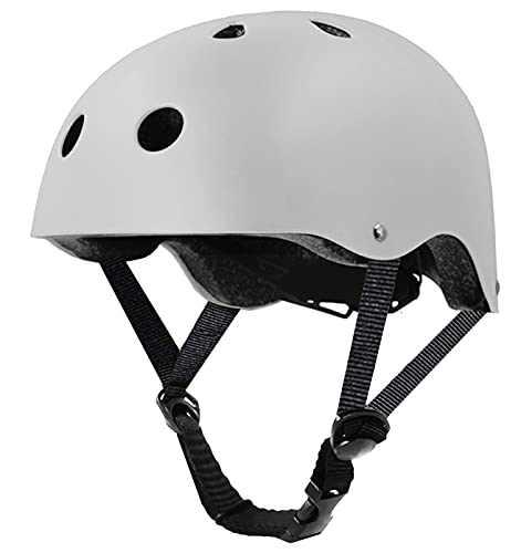 Tourdarson Skateboard Helmet Protection Sport for Scooter Skate Skateboarding Cycling (White, M)