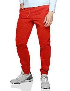 Match Men's Loose Fit Chino Washed Jogger Pant (40, 6535 Orange)