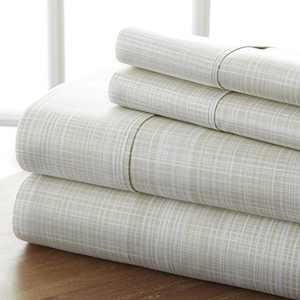 Linen Market 4 Piece Sheet Set Patterned, Queen, Thatch Ray
