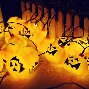 Halloween Pumpkin String Lights,Waterproof Solar Pumpkin String Lights Christmas Decoration LED String Lights for Outdoor, Home, Patio, Garden Halloween Decor (30LED Halloween String Light)