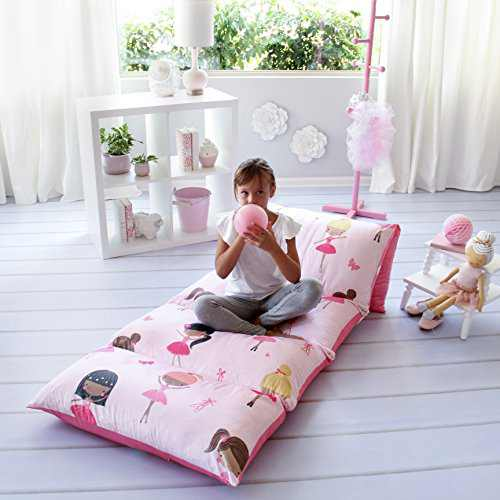 Butterfly Craze Pillow Bed Floor Lounger Cover - Perfect for Pillow Recliners & Kid Beds for Reading Playing Games or at a Sleepover or Slumber Party (Pillows not Included)