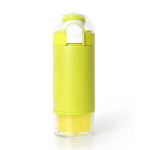 Burabi Formula Dispenser Bottle, Portable Formula Making Mixing Themos Bottle with 3 Compartment Milk Powder Container for Travel, Easy to Make Warm Bottles outdoor (Green)