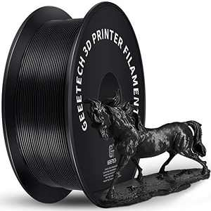 Geeetech 1.75mm PLA 3D Printer Filament, 1kg Spool (2.2lbs), Upgrade Tidy Winding Tangle-Free, Dimensional Accuracy +/- 0.03mm, Black