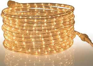 Tupkee Rope Light Warm Clear - 24 Feet (7.3 m), for Indoor and Outdoor use - 10MM Diameter - 288 Clear Incandescent Long Life Bulbs Rope Tube Lights