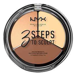 NYX PROFESSIONAL MAKEUP 3 Steps to Sculpt, Face Sculpting Contour Palette - Light