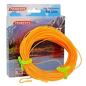 PROBEROS Fly Fishing Line - Weight Forward Enhanced Welded Loop Floating Fly Line (Orange,2F)
