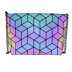 Obvie Geometric purse PU leather chain crossbody purse clutch purses for women