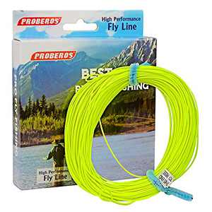 PROBEROS Fly Fishing Line - Weight Forward Enhanced Welded Loop Floating Fly Line (Yellow,2F)
