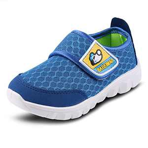XIPAI Toddler Kid's Cute Casual Lightweight Walking Athletic Shoes Boys and Girls Mesh Strap Sneakers Blue