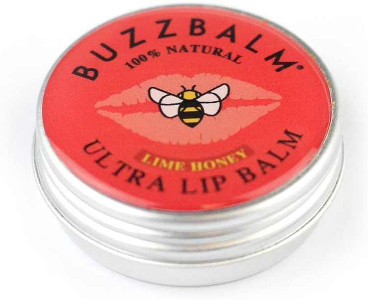 Natural Lip Balm With Beeswax - Organic Treatment For Dry Chapped Cracked Lips (Lime Honey, 8.5g)