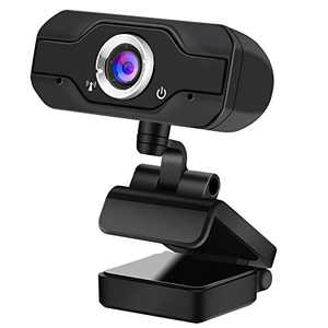 720P HD Webcam, InTeching USB Widescreen Computer Camera with Microphone for Windows XP/Vista/7/8/8.1/10 PC, Desktop or Laptop (Livestream/Skype Cam)