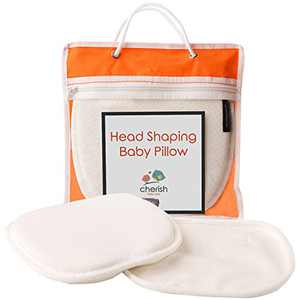Baby Pillow for Newborn Prevent Flat Head with 2 Washable Covers - Baby Head Shaping Pillow with Neck Support